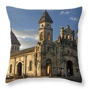 Iglesia De Guadelupe In Granada Nicaragua Throw Pillow