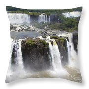 Iguacu Falls Brazilian Side Throw Pillow