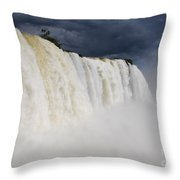 Iguacu Falls Majesty Throw Pillow