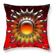 Iguana Love Throw Pillow