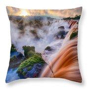 Iguazu Sunrise Throw Pillow