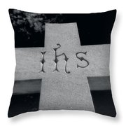 Ihs - Monogram Of Holy Name Throw Pillow