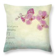 Ikebana With Message Throw Pillow
