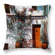 Il Cortile Bianco Throw Pillow by Guido Borelli