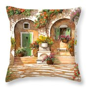 Il Cortile Throw Pillow by Guido Borelli