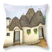 Il Trullo Alberobello Throw Pillow