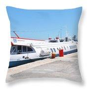 Ilida II Hydrofoil At Kerkira Throw Pillow