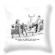 I'll Abandon My Medium-and Shorter-range Missiles Throw Pillow