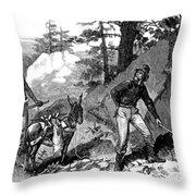 Illegal Prospecting, 1879 Throw Pillow