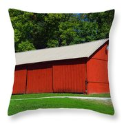 Illinois Red Barn Throw Pillow