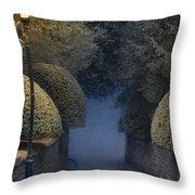 Illumiinated Victorian Street Light Throw Pillow