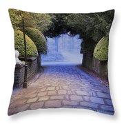 Illuminated Victorian Street Light Throw Pillow