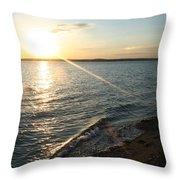 Illuminated Waves Throw Pillow