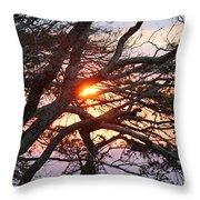 Illuminating Sunset Throw Pillow