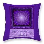Illuminating Violet Throw Pillow