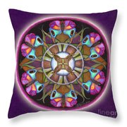 Illusion Of Self Mandala Throw Pillow