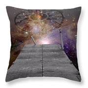 Illusion Of Time Throw Pillow