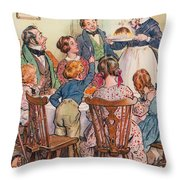 Illustration For A Christmas Carol Throw Pillow
