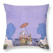 Illustration From A Book Of Fairy Tales Throw Pillow