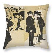 Illustration From Lassiette Au Beurre Throw Pillow