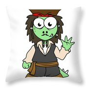 Illustration Of A Stegosaurus Pirate Throw Pillow