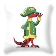 Illustration Of A Tyrannosaur Rex Throw Pillow