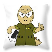 Illustration Of An Allosaurus Jet Pilot Throw Pillow