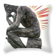 Illustration Of Back Pain Throw Pillow