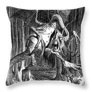 Illustration To The Poem Jabberwocky  Throw Pillow