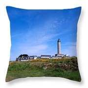 Ils De Batz Lighthouse Throw Pillow