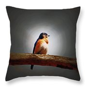 I'm A Bluebird And I'm Beautiful Throw Pillow