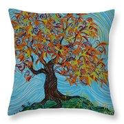 I'm A Happy Tree Throw Pillow