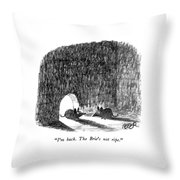 I'm Back.  The Brie's Not Ripe Throw Pillow