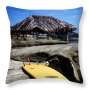 I'm Board Throw Pillow by Peter Tellone