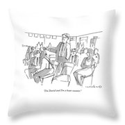 I'm David And I'm A Bean-counter Throw Pillow by Michael Crawford