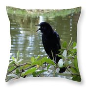 I'm Here Throw Pillow