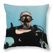 I'm Out Of Air Throw Pillow