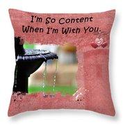 I'm So Content Throw Pillow