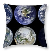 Image Comparison Of Iconic Views Throw Pillow