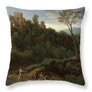 Imaginary Landscape With Buildings In Tivoli Throw Pillow
