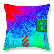 Imaginary River Crossing Throw Pillow