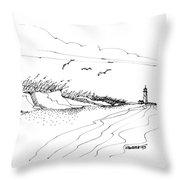 Imagination 1993 - Atlantic Coast Beach No 2 Throw Pillow