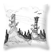 Imagination 1993 - Eagles Over Desert Rocks Throw Pillow