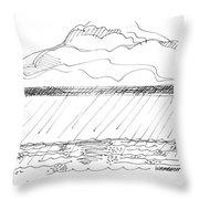 Imagination 1993 - Storm At Sea Throw Pillow by Richard Wambach