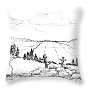 Imagination 1993 - Vast Valley View Throw Pillow by Richard Wambach