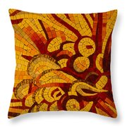 Imagination In Hot Vivid Yellows Throw Pillow