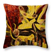 Imagination In Reds And Yellows Throw Pillow