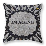 Imagine A World Of Peace Throw Pillow