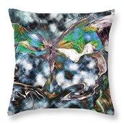 Imagine Number 2 Butterfly Art Throw Pillow