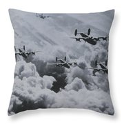 Imagine The Brave Men In These Bombers On A World War II Mission Throw Pillow